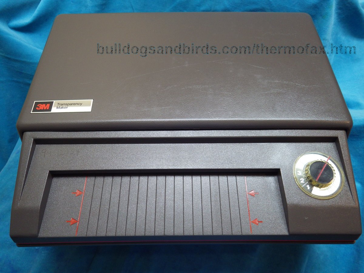 3m thermofax machine